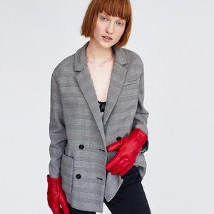 Zara Plaid Double-breasted Blazer / Jacket